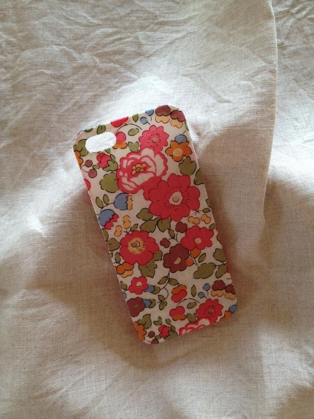 リバティ iphoneケース iphone5/5sケース(ベッツィ ピンク)
