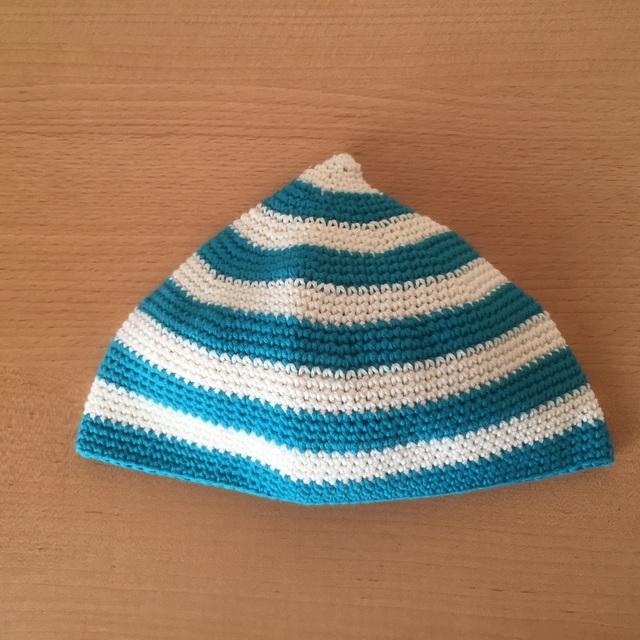 baby kids コットンボーダーニット帽
