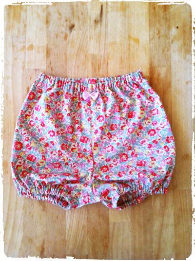 ベビー用カバーパンツ・ブルマ *小花柄* ピンク