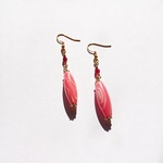 Inca rose oval ピアス