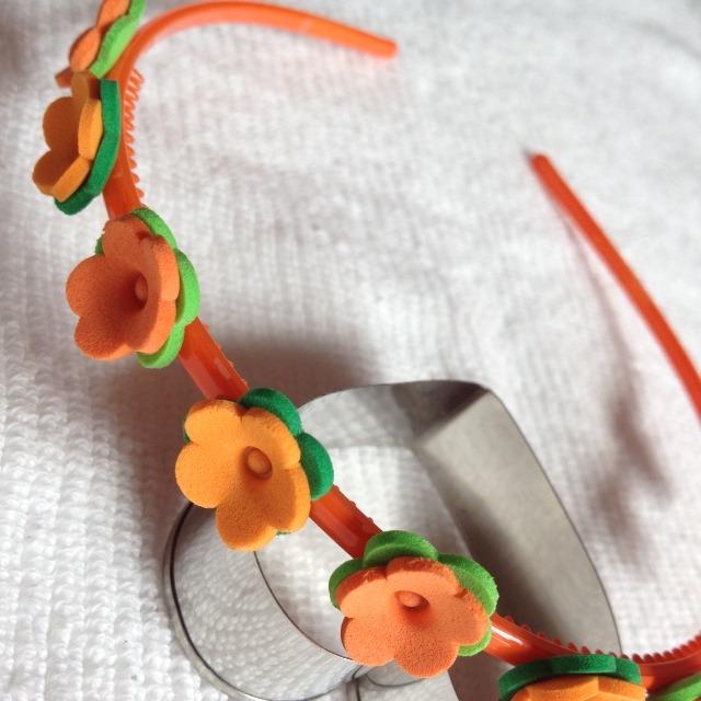 Diadema Flores Naranjas