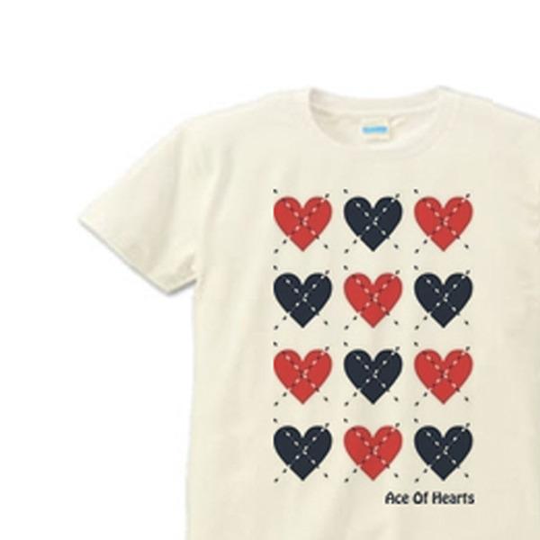 【再販】ハートのアーガイル S〜XL Tシャツ 【受注生産品】