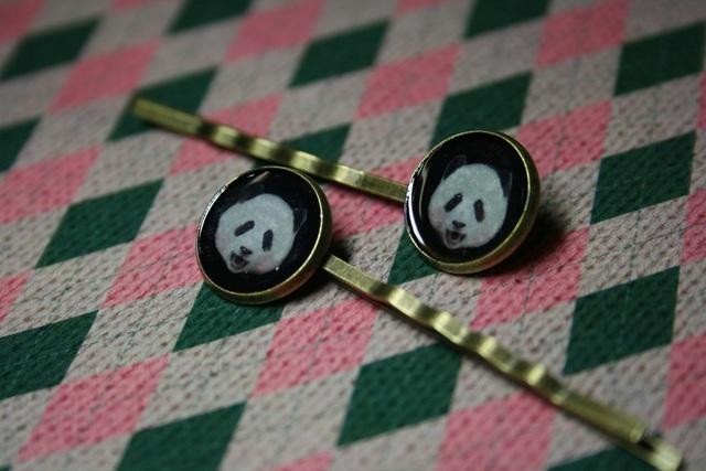 パンダ★ヘアピン2本セット