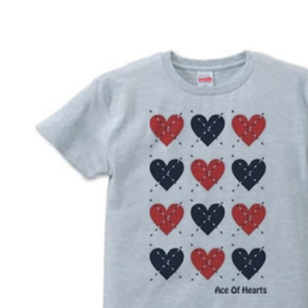 ハートのアーガイル XS(女性XS〜S) Tシャツ 【受注生産品】