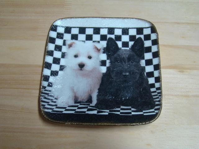 デコパージュ(犬 飾るお皿