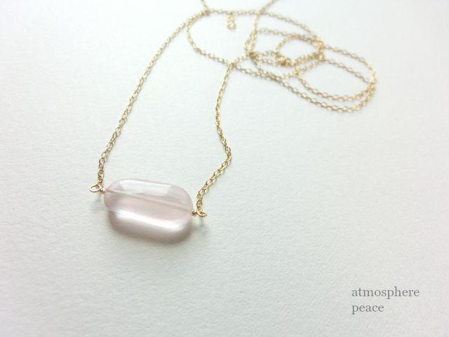 桃色の雲(ネックレス)