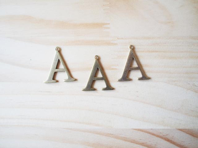 Alphabet A, Vintage Charm, アルファベット