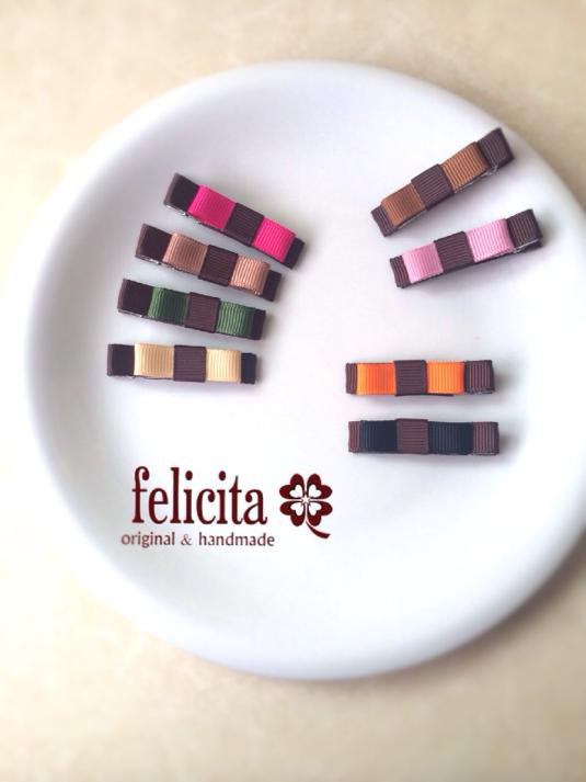 チョコレートカラーのヘアクリップ(2個セット)