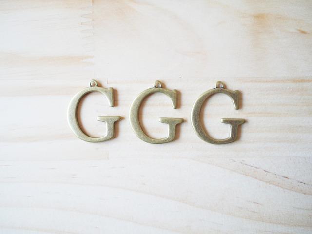 Alphabet G, Vintage Charm, ����ե��٥å�