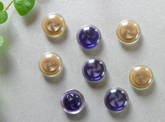 アンティークボタン(2色各4個 合計8個)