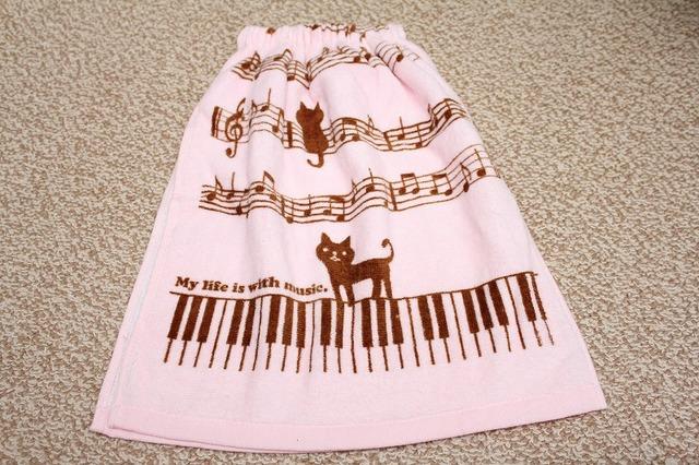 タオルエプロン music♪pink