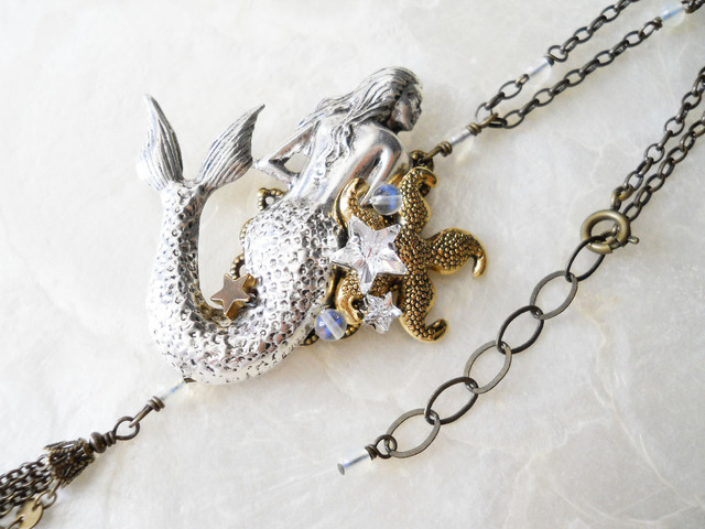 【SALE】人魚姫と星の砂ネックレス(1点限定)