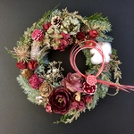 Rose wreath Xmas &New year