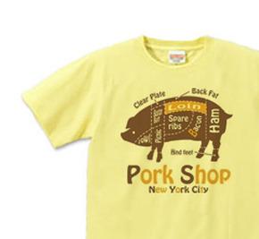 ポーク S〜XL Tシャツ 【受注生産品】