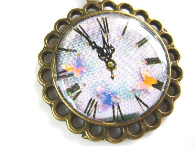 幻想蝶時計のネックレス_251 s2