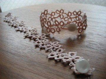 bracelet みつばピンク 17cm