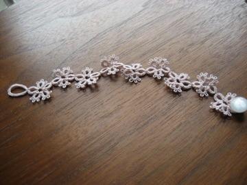 bracelet お花ピンク