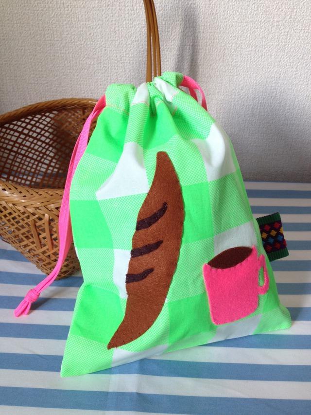 パンとコーヒーの巾着☆green☆