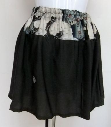 泥染めの留袖で作ったミニスカート 457