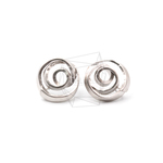 ERG-1182-MR【2個入り】スワールピアス,Swirly Textured Post Earring