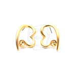 ERG-1183-MG【2個入り】ハートピアス,Heart Post Earring/18mm x 24mm