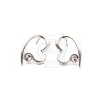 ERG-1183-MR【2個入り】ハートピアス,Heart Post Earring/18mm x 24mm