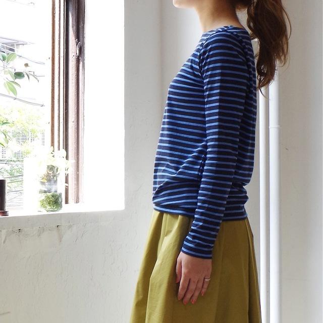 <再入荷!>ボーダーバスクシャツ ( blue × navy )