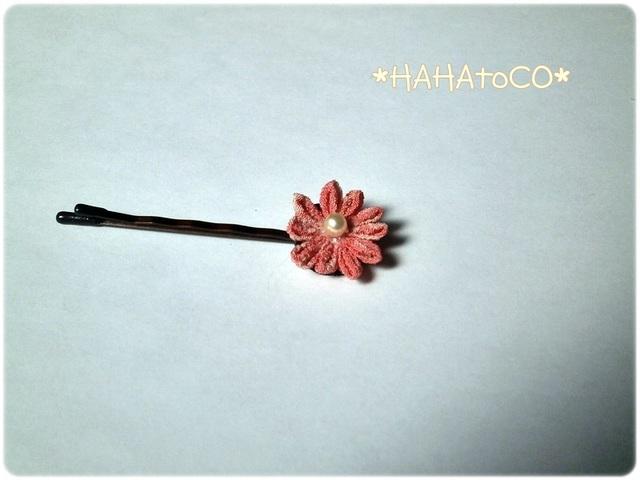 つまみ細工のヘアピン#2