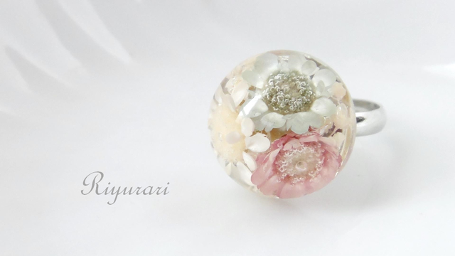 Antique flower Ring (white)