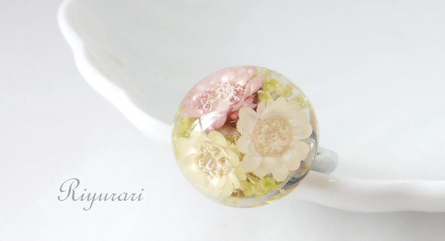 Antique flower Ring (pink)