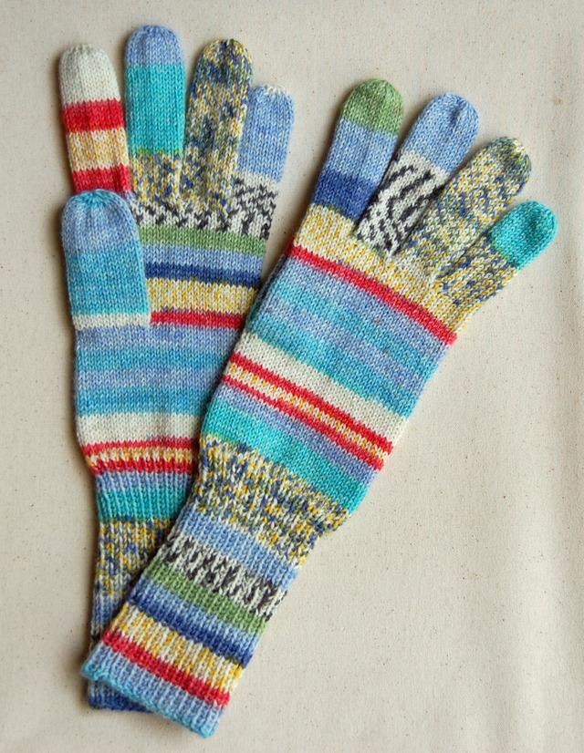 手編み5本指手袋 No.4【再販】
