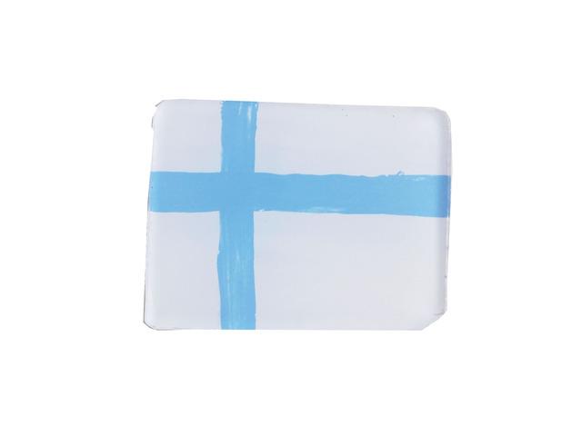 フィンランド国旗のブローチ