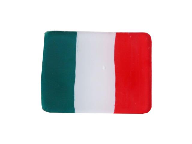 イタリア国旗のブローチ