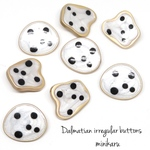 8pcs)Dalmatian irregular button