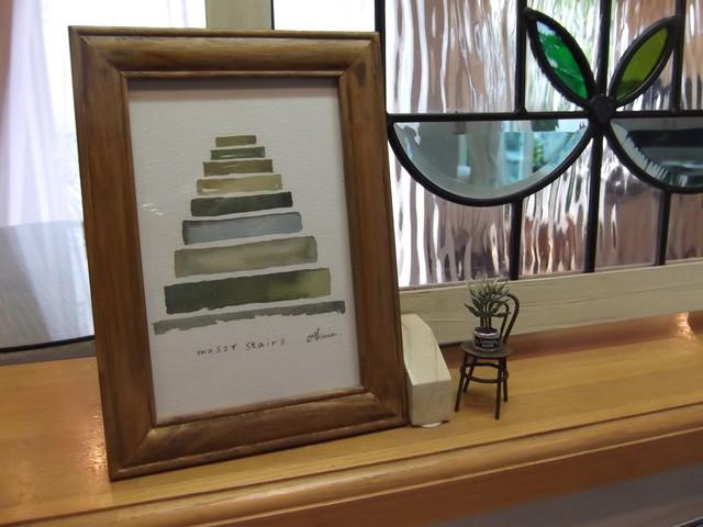 ゆる絵 mossy stairs + 額