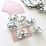 * LIBERTY  Floating Flora *  funwari mini ribbon clip  <baby&kids> ※ヘアゴムに変更可能