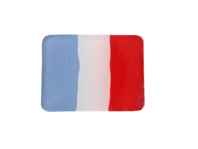 フランス国旗のブローチ
