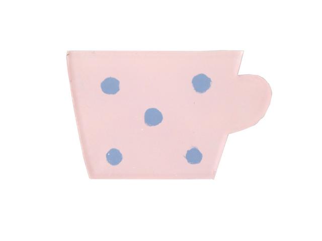 ピンクカップのブローチ