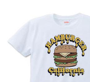 ポップ・ハンバーガー S〜XL Tシャツ 【受注生産品】