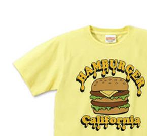 ポップ・ハンバーガー XS(女性XS〜S) Tシャツ 【受注生産品】