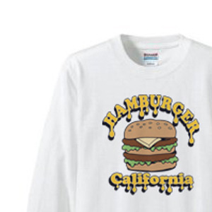ポップ・ハンバーガー 長袖Tシャツ【受注生産品】