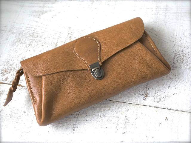 【即納品可能】長財布 「series-envelope」キャメル