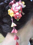 つまみ細工の髪飾り