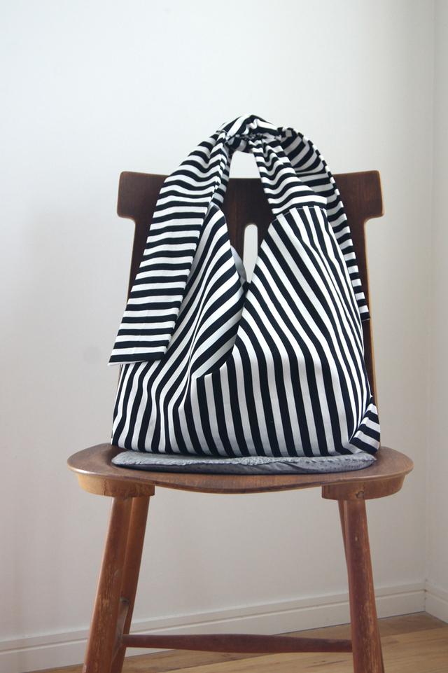 【new】リボンのバッグ(ストライプ)