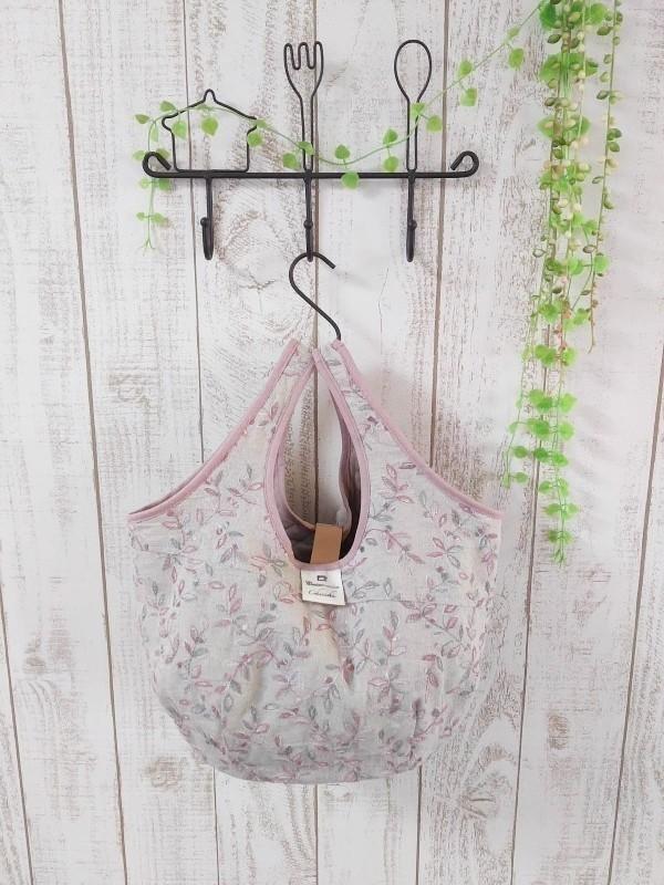 ☆Pricedown☆ 花刺繍生地のほっこりBAG ピンク系