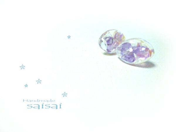 紫陽花 ピアス