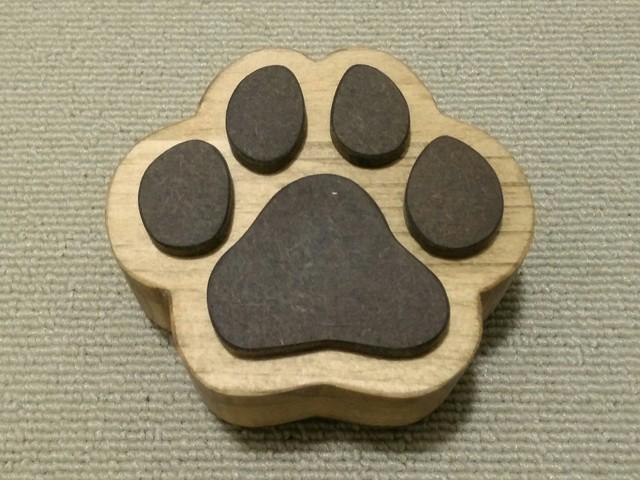 木製☆犬の肉球小箱☆ナチュラル