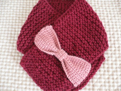 【編み図】女の子が大好きリボンモチーフのマフラー