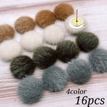 Thanks price☆【chmm3965】【15㎜ size】【4color 16pct】eco fur cabochon
