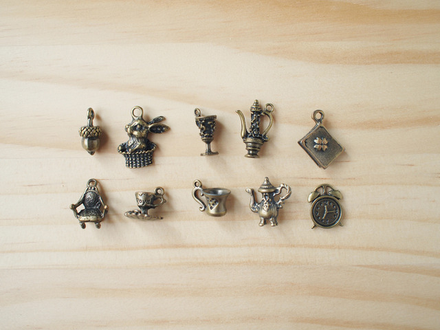 Vintage Charm set, Tea time/ ビンテージチャーム、ティータイム